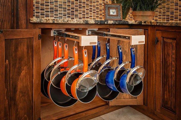 Pull-Out Pot & Pan Cabinet Organizer