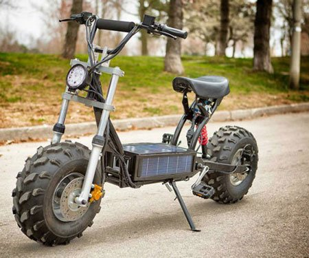 Solar-Powered Off Road Scooter