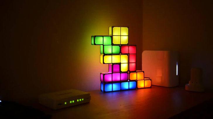 Stacking Tetris Lights