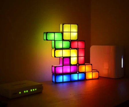 Stacking Tetris Lights