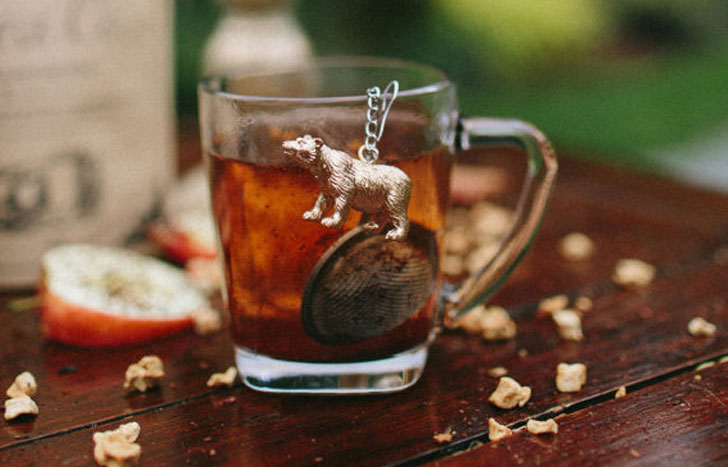 Teaball Infuser With Bear - cutest tea infusers