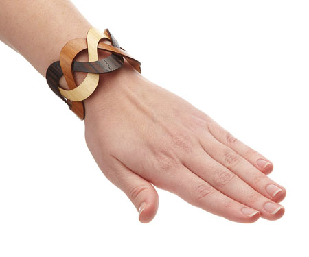 Trinity Wooden Cuff Bracelet