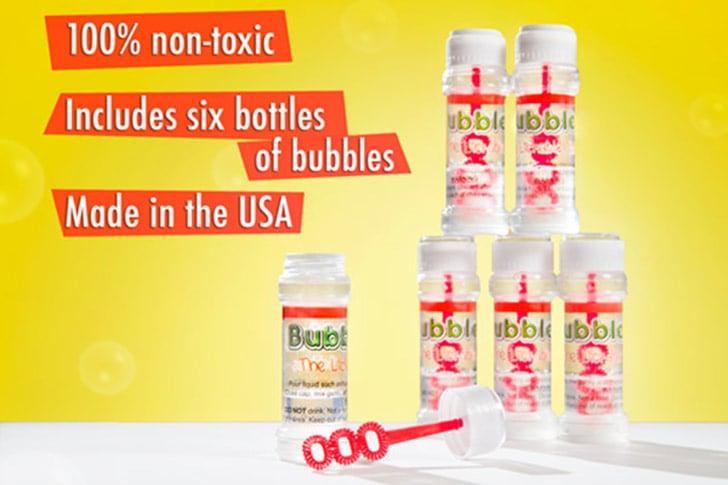 Edible Bubbles, six bottles in one package