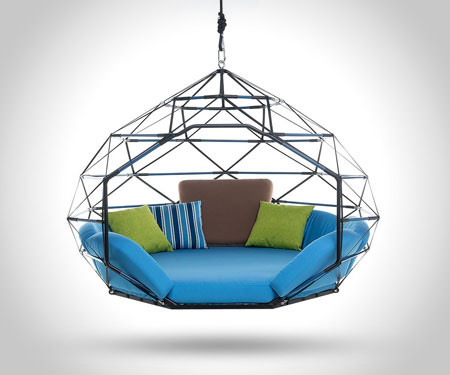 Swinginng Couch Zome Blue