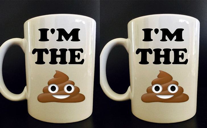 """I'm The Sh*t"" Poop Emoji Mug"