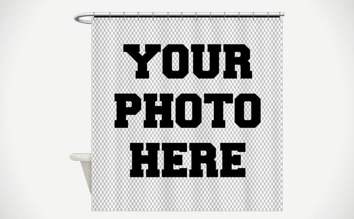 u201cyour photo hereu201d customized shower curtain