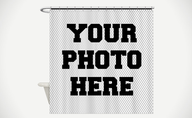 """""""Your Photo Here"""" Customized Shower Curtain"""
