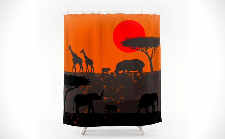 African Savanna Shower Curtain - coolest shower curtains