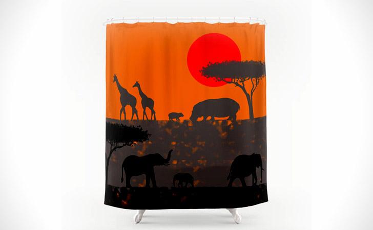 African Savanna Shower Curtain - coolest shower curtains