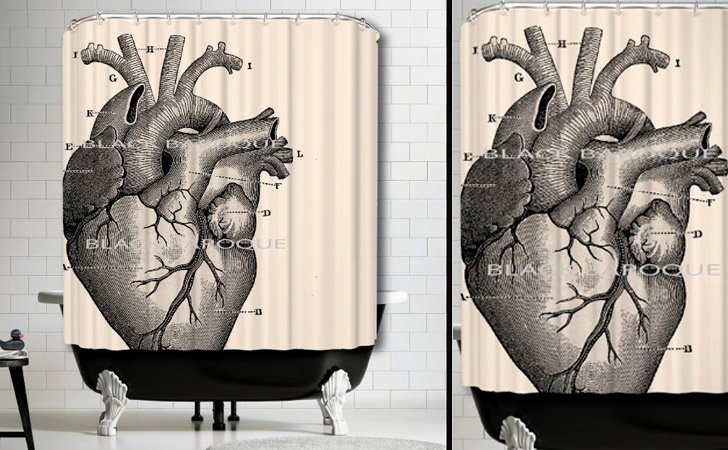 Anatomical Human Heart Shower Curtain