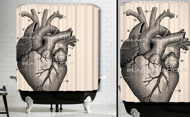 Anatomical Human Heart Shower Curtain