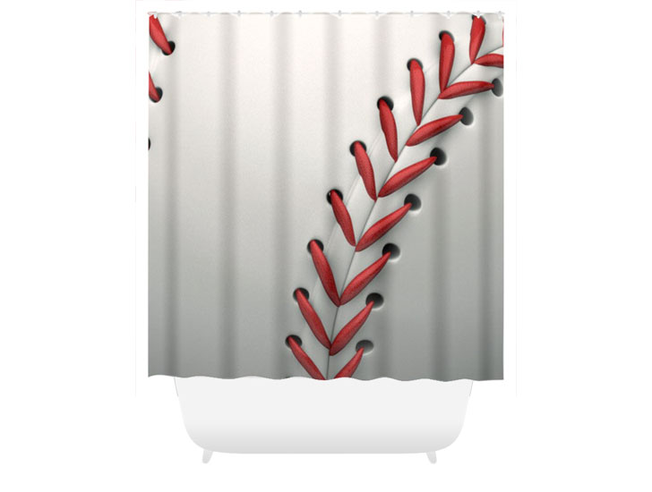 Baseball Stitch Shower Curtain