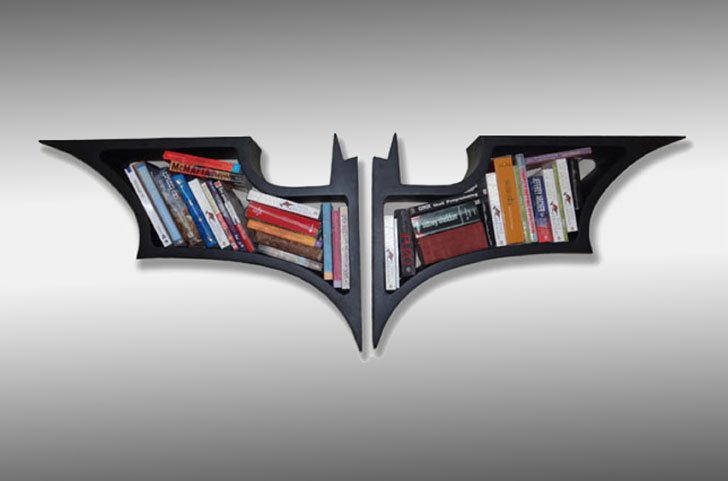 Batman Bookshelf   Cool Bookshelves