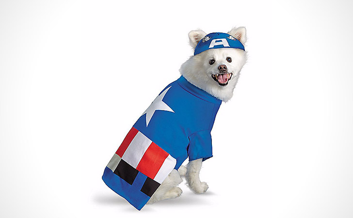 Captain America Dog Costume - Pet Costumes For Dogs