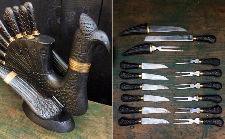 Christmas Carving Turkey Knife Set