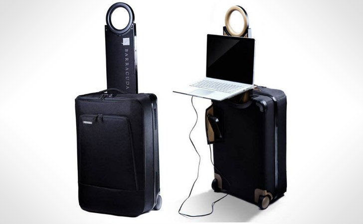 Collapsible Suitcase With A Laptop Tray