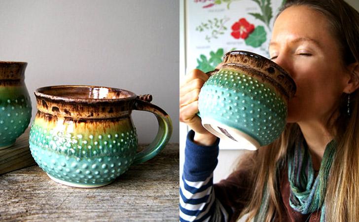 Custom Made-To-Order Giant Pottery Coffee Mugs