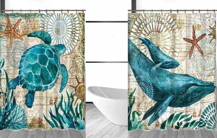Deep Blue Sea Shower Curtains