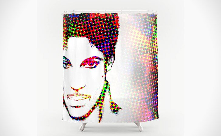 "Digital ""Prince"" Art Shower Curtain"