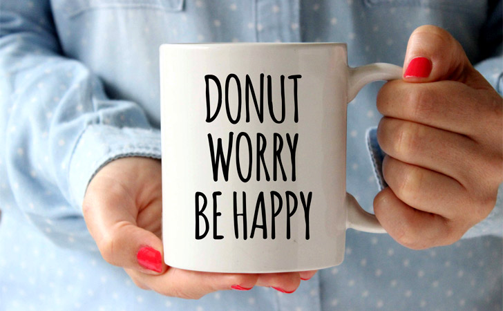 Donut Worry Be Happy Mug