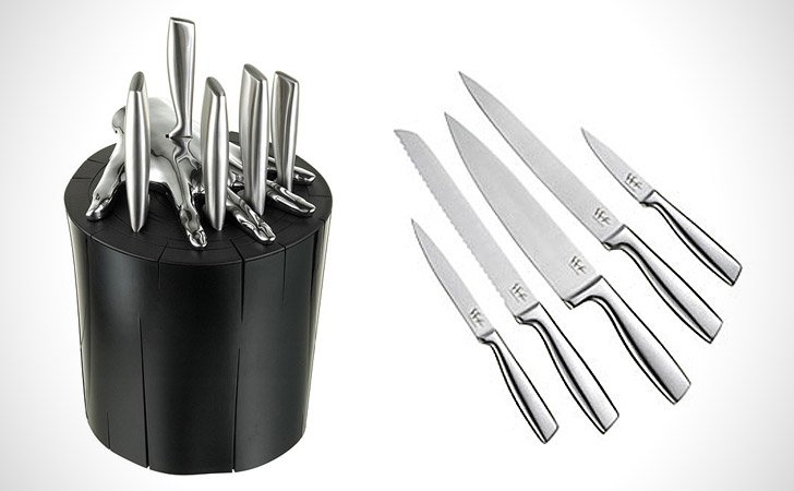 Five Finger Knife Block