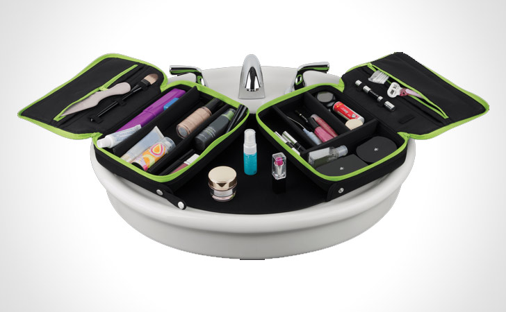 Fold-Out Toiletries Travel Bag