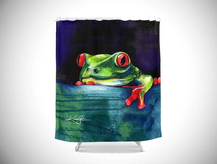 frog shower curtain - cool shower curtain