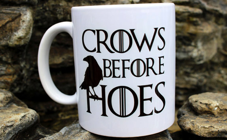 """G.O.T """"Crows Before Hoes"""" Mug"""