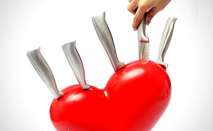 Heart Knife Block - Coolest Knife Blocks And Unique Knife Sets
