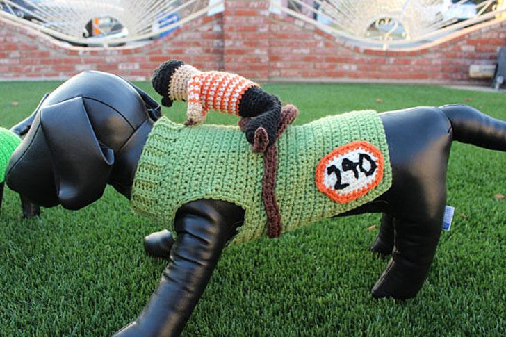 Horse Jockey Dog Costume
