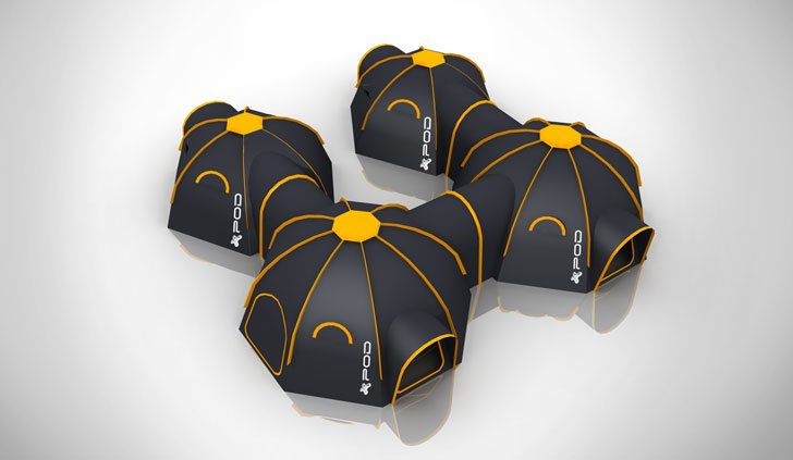 Interconnecting Modular Tent Pods