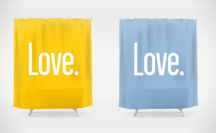 Love Quote Shower Curtain Available In 36 Colors