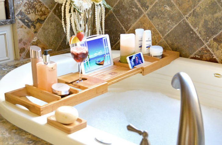 Luxury Wooden Bathtub Caddy