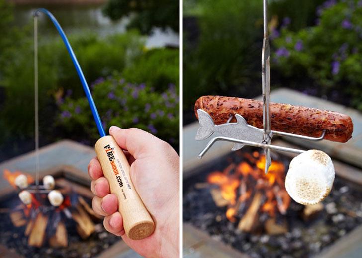 Marshmallow Roasting Fishing Pole