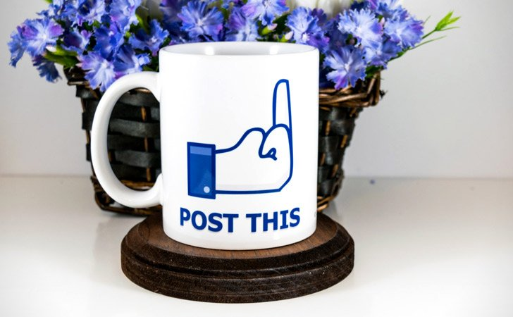 "Middle Finger ""Post This"" Mug"