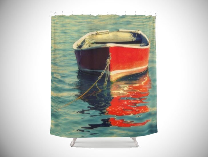 Nautical Boat Scene Shower Curtain