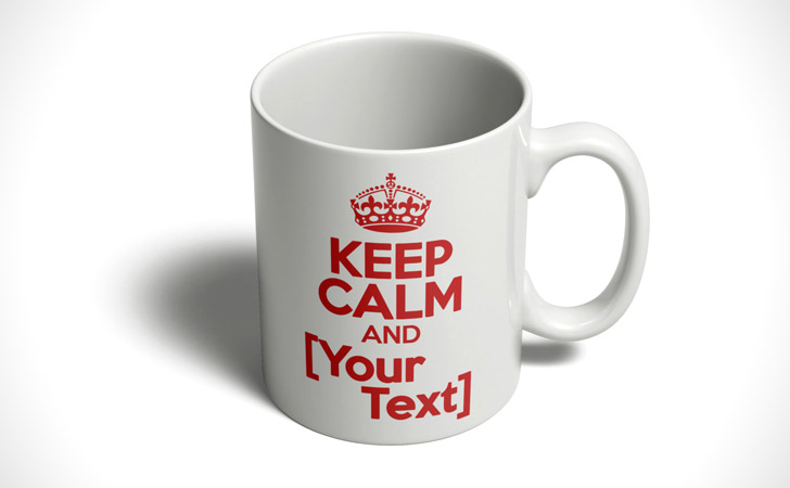 "Personalized ""Keep Calm"" Mug"