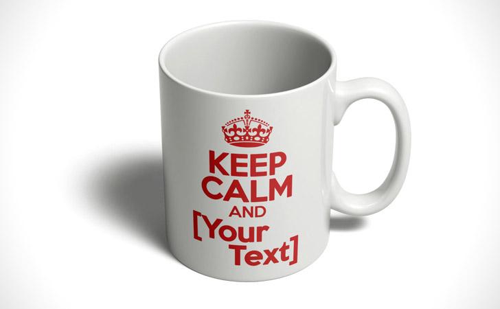"Personalized ""Keep Calm"" Mug"