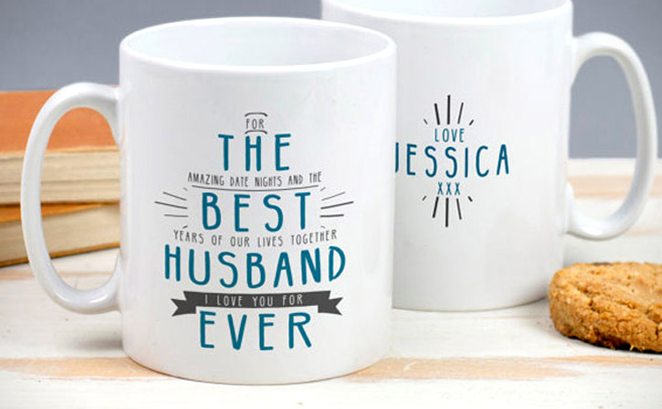 Personalized Best Husband Ever Mugs