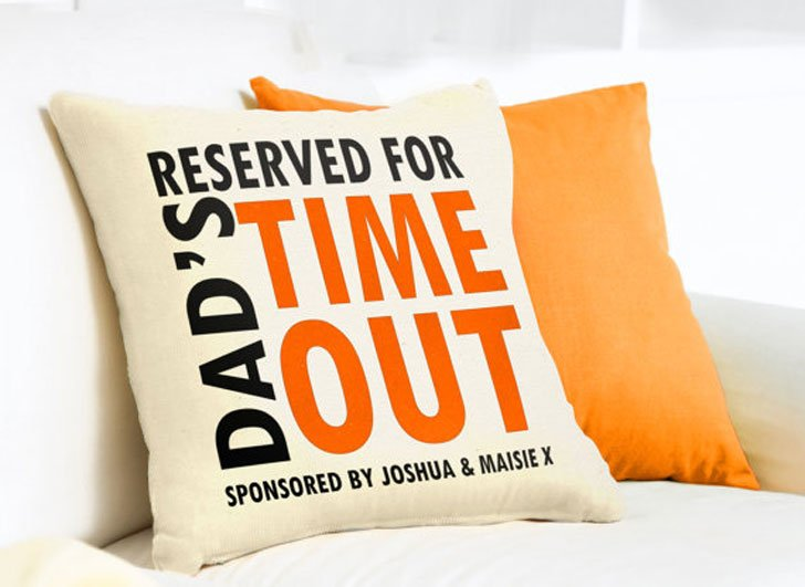 Personalized Dads Time-Out Cushion