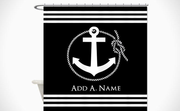 Personalized Nautical Scene Shower Curtain