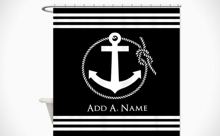 Personalized Nautical Scene Shower Curtain