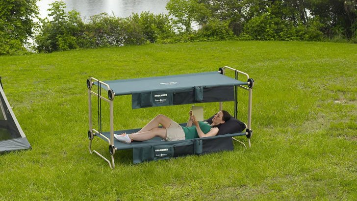 Portable Camping Bunk Bed Sofa