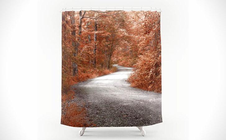 Rural Autumn Scene Shower Curtain