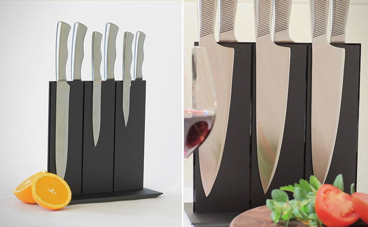 Stylish Magnetic Knife Block
