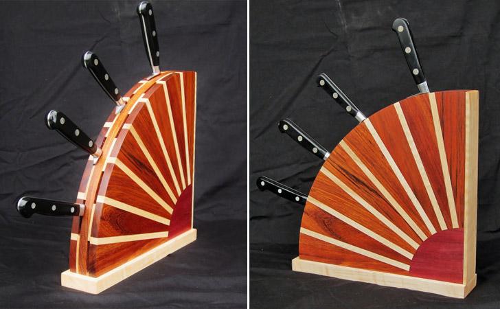 Sunburst Knife Block - Coolest Knife Blocks And Unique Knife Sets