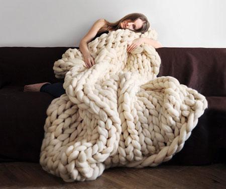 Super Chunky Merino Blanket