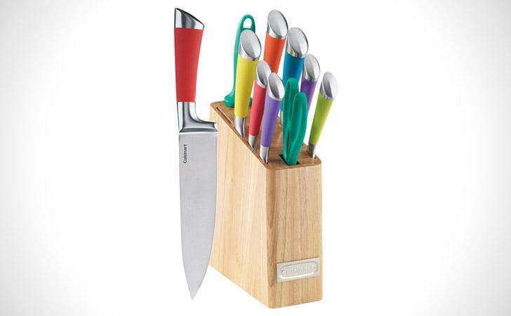 The 11 Piece Rainbow Knife Block Set