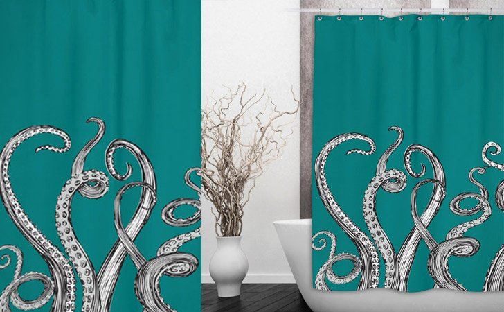 The Kraken Shower Curtain