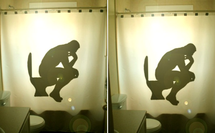"""The Thinker"" Shower Curtain - coolest shower curtains"